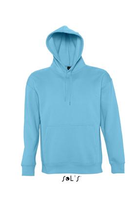 Sols Slam Unisex Hooded Sweater Turquoise