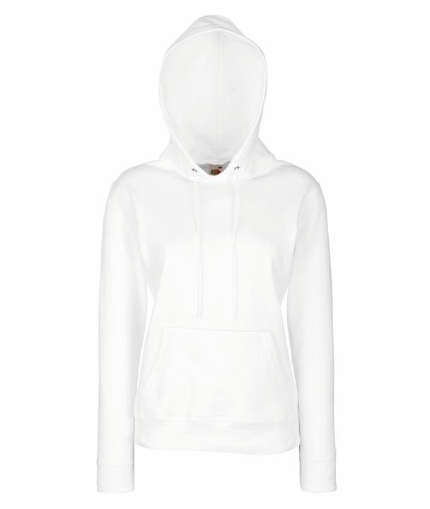 Fruit of the Loom Lady Fit Hoodie 620380 White