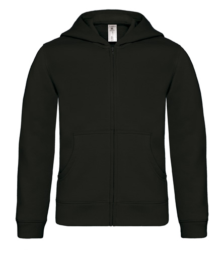 B-C Hooded Full Zip Kids Black
