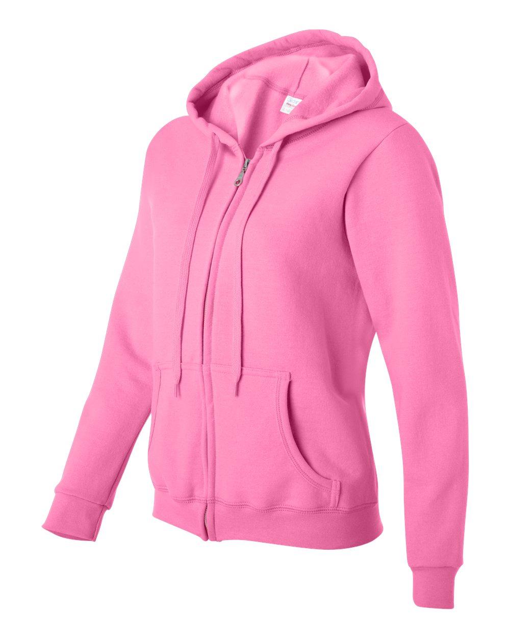 Gildan Full Zip Dames Hoodie Sweater GIL18600FL Azalea