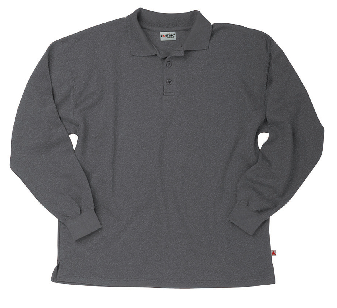 Santino Polosweater Rick Donkergrijs