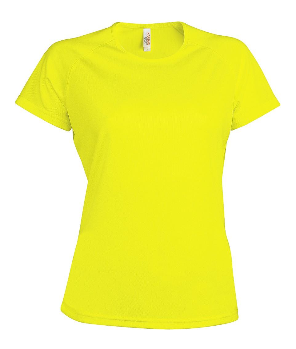 Heren Sport T-shirt KS030 Fluor Yellow