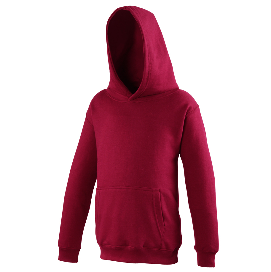 AWDis Hoods Kids Hoodie Sweater Kinderen Red Hot Chilli