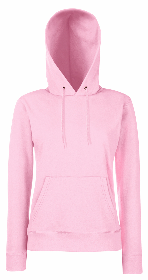 Fruit of the Loom Lady Fit Hoodie Light Pink