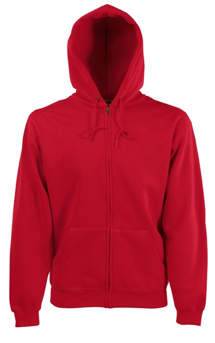 Fruit of the Loom Zip hoodie sweatshirt SC361C Red