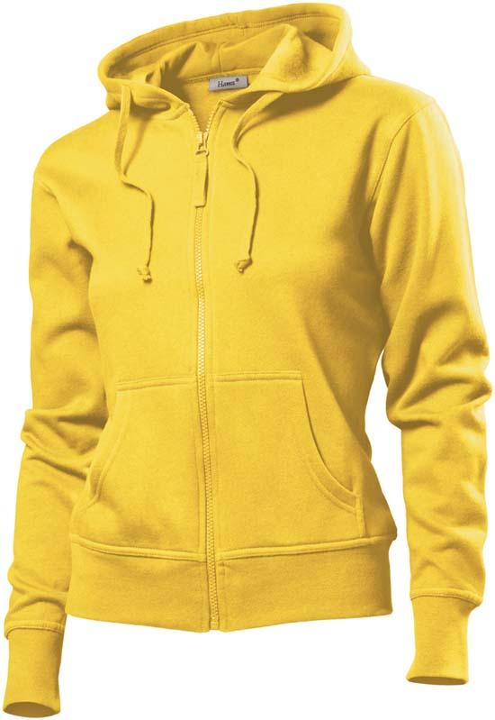 Hanes Spicy dames hoodie 6510 Sun Flower Yellow