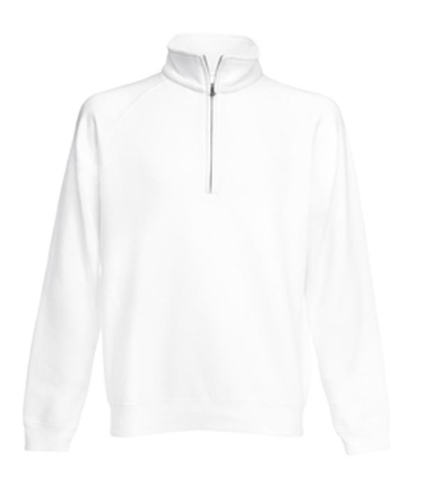Fruit of the Loom Zip Neck Sweater White