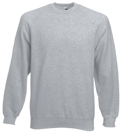 Fruit of the Loom Raglan Sweater SC4 Heather Grey