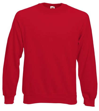 Fruit of the Loom Raglan Sweater SC4 Red