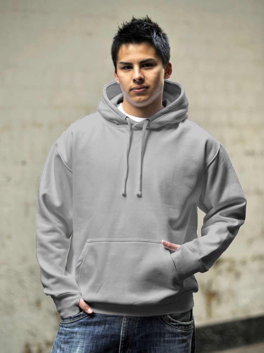 AWDis Street Hoodie JH020 Heather Grey