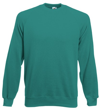 Fruit of the Loom Raglan Sweater SC4 Emerald