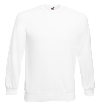 Fruit of the Loom Raglan Sweater SC4 White