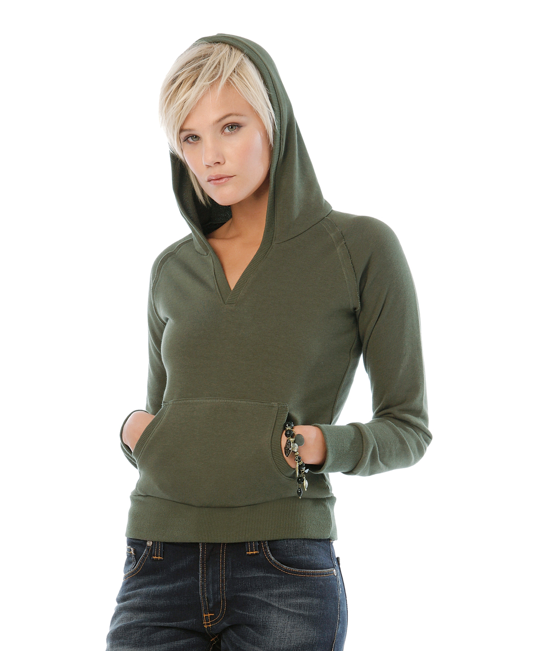 B&C Dames Hooded Sweater
