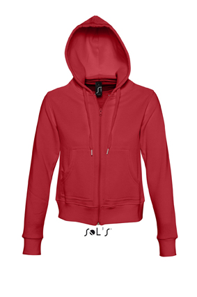 Sols Success Zip Hoodie sweater Red