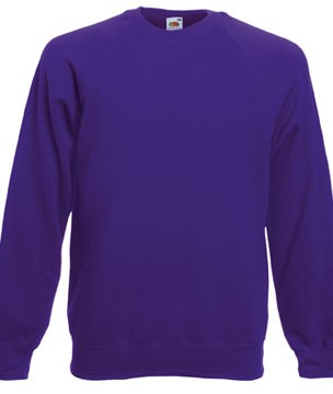 Fruit of the Loom Raglan Sweater SC4 Purple