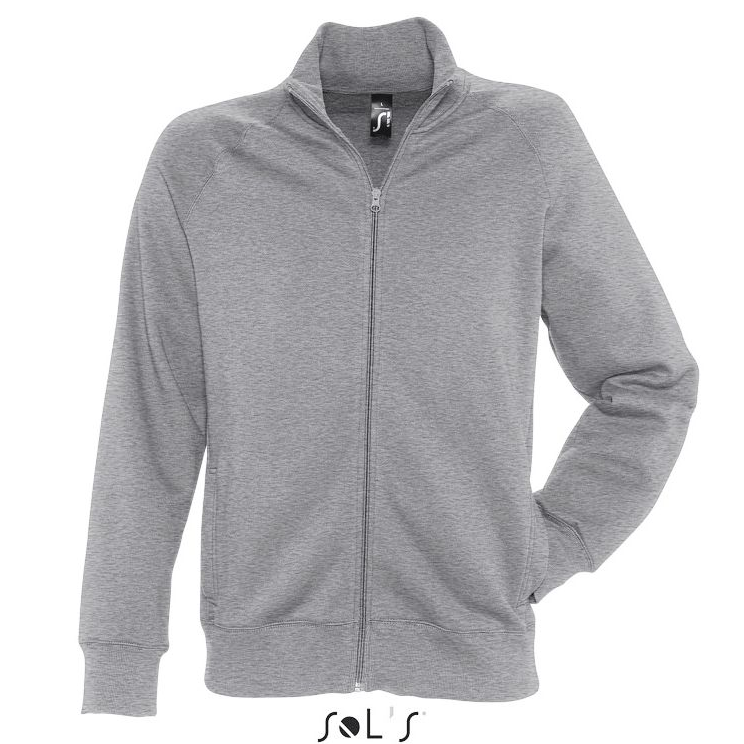 Sols Sundae Unisex Zip Sweater grey