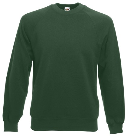 Fruit of the Loom Raglan Sweater SC4 Bottle Green