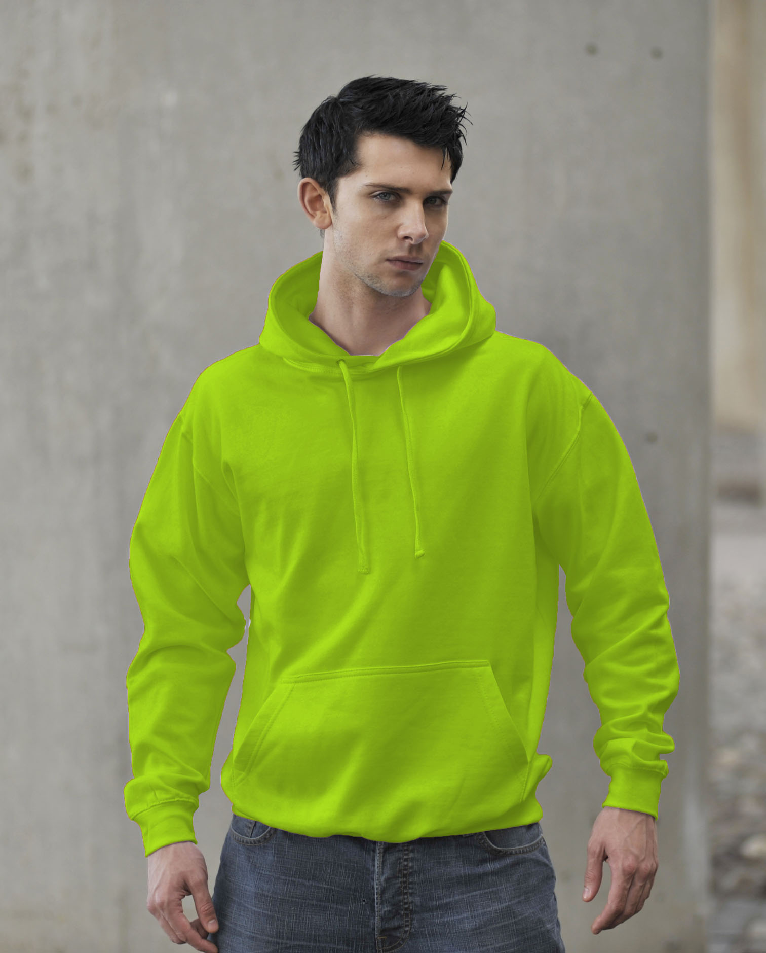 JH004 AWDis Electric Hoodie Electric Green