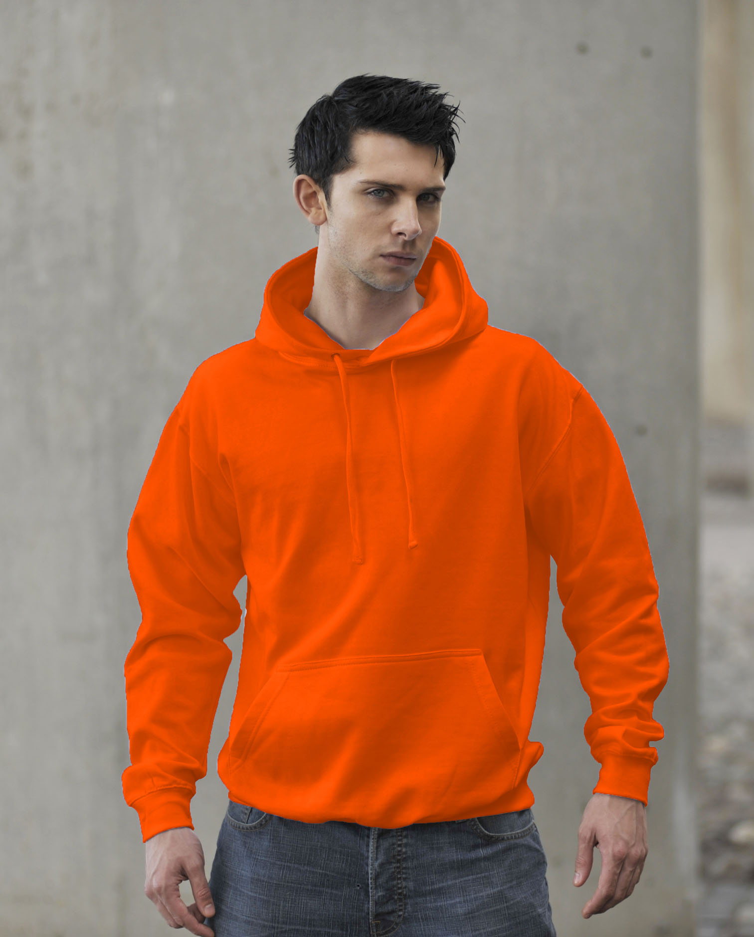 JH004 AWDis Electric Hoodie Electric Orange