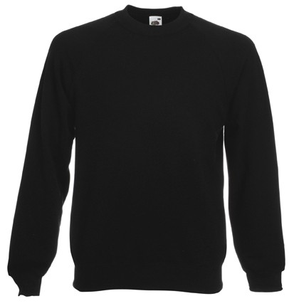 Fruit of the Loom Raglan Sweater SC4 Black