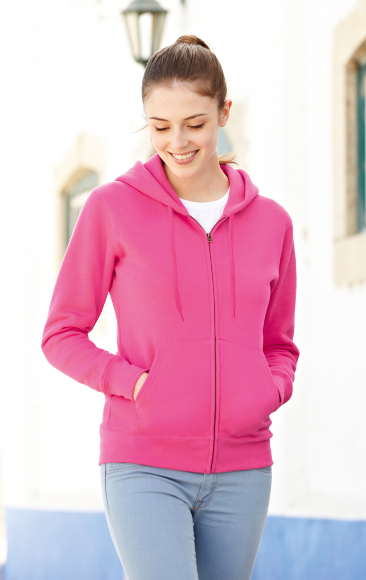 Fruit of the Loom Lady Fit Hooded Jacket 621180 Foto nieuw
