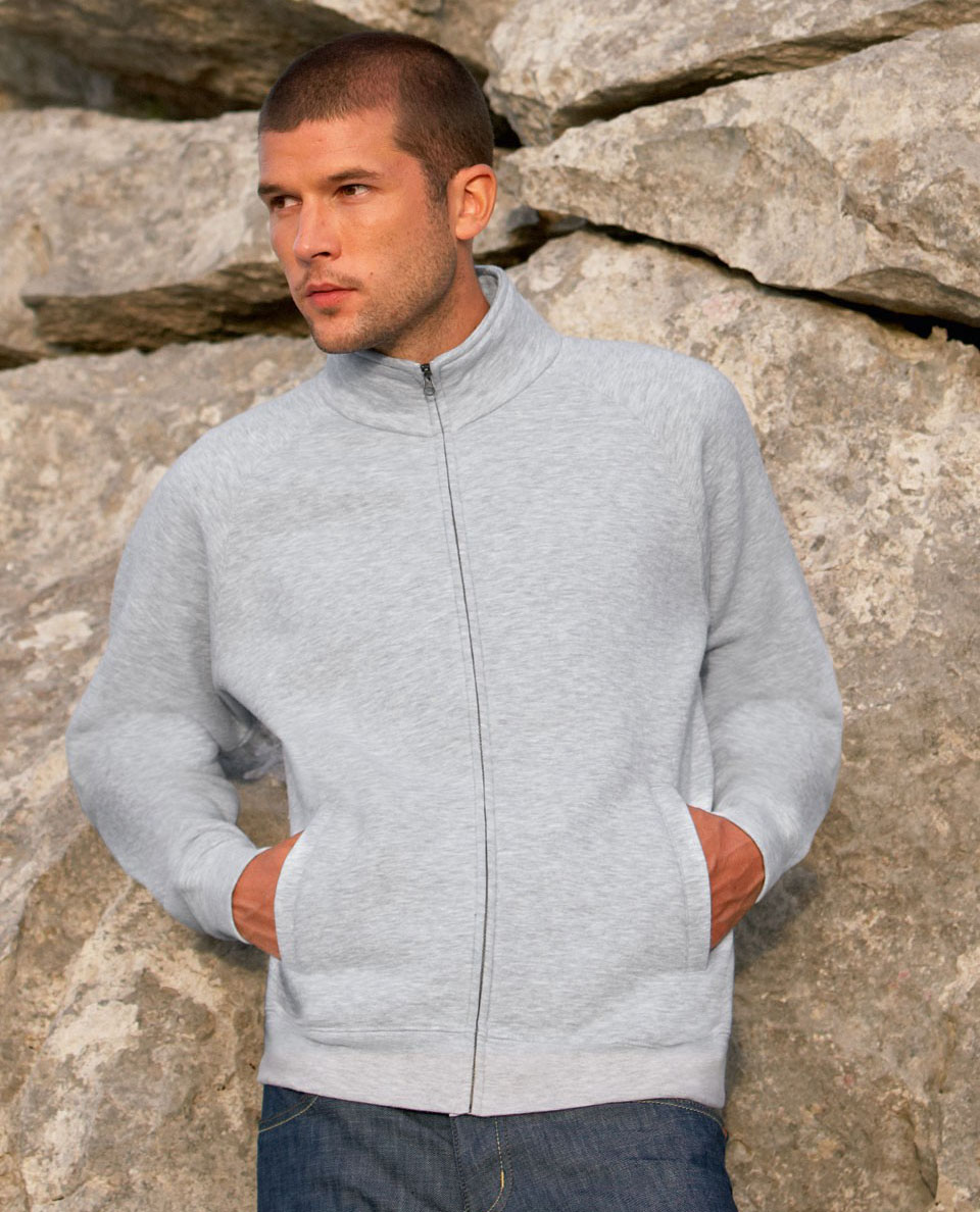 Fruit of the Loom Sweat Jacket SC62228 Heather Grey