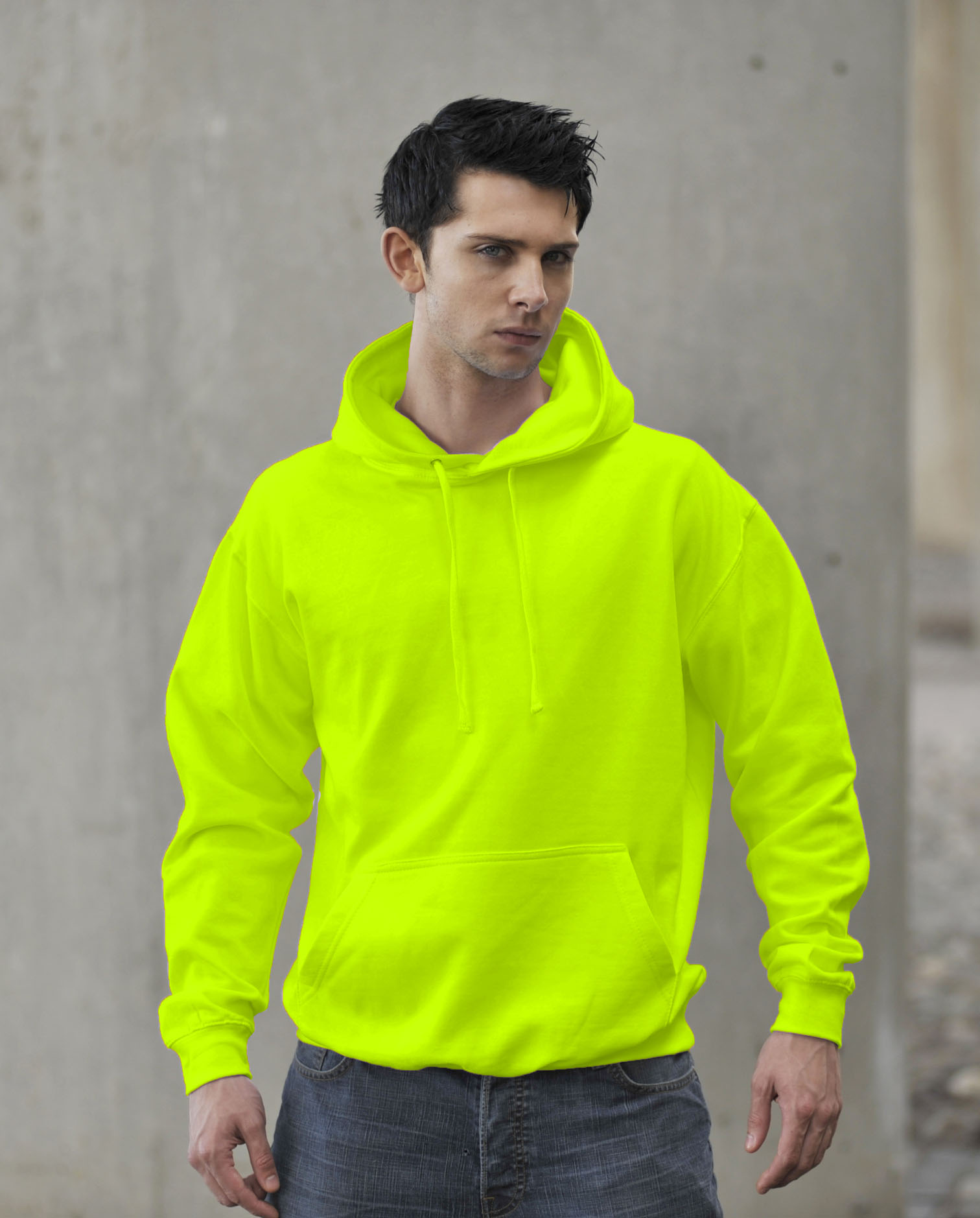 AWDis JH004 Fluor Hoodie Electric Yellow