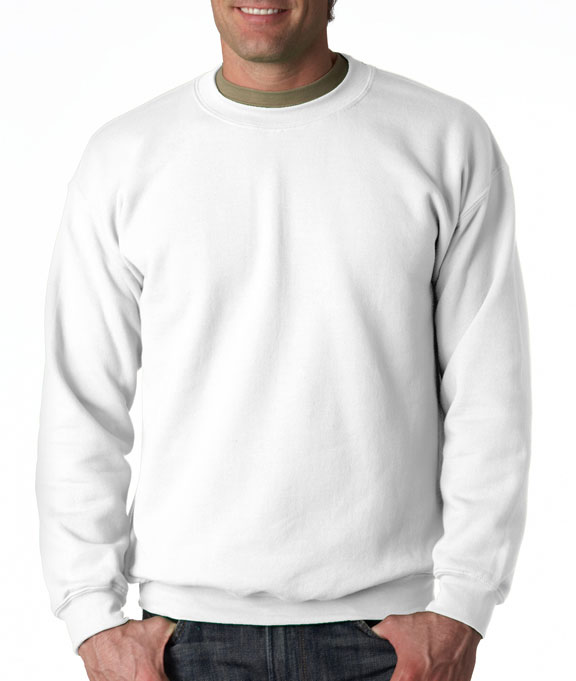 Gildan Heavy Blend Crewneck Sweater white