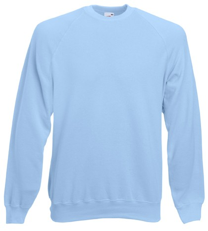 Fruit of the Loom Raglan Sweater SC4 Sky Blue