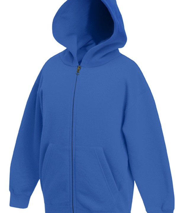 Fruit of the Loom Kids Zip Hoodie Sweater Royal Blue