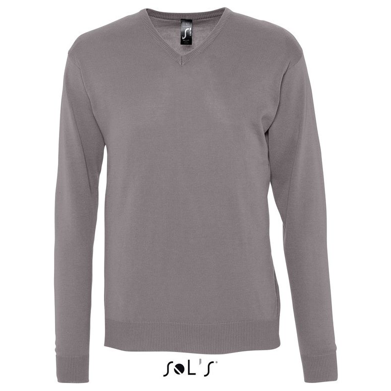 Sols Galaxy Men V-hals Sweater grey