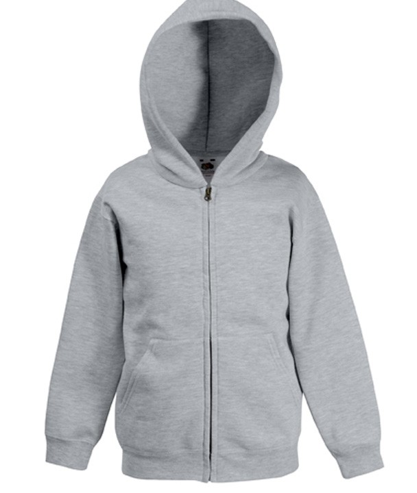 Fruit of the Loom Kids Zip Hoodie Sweater Heather Grey