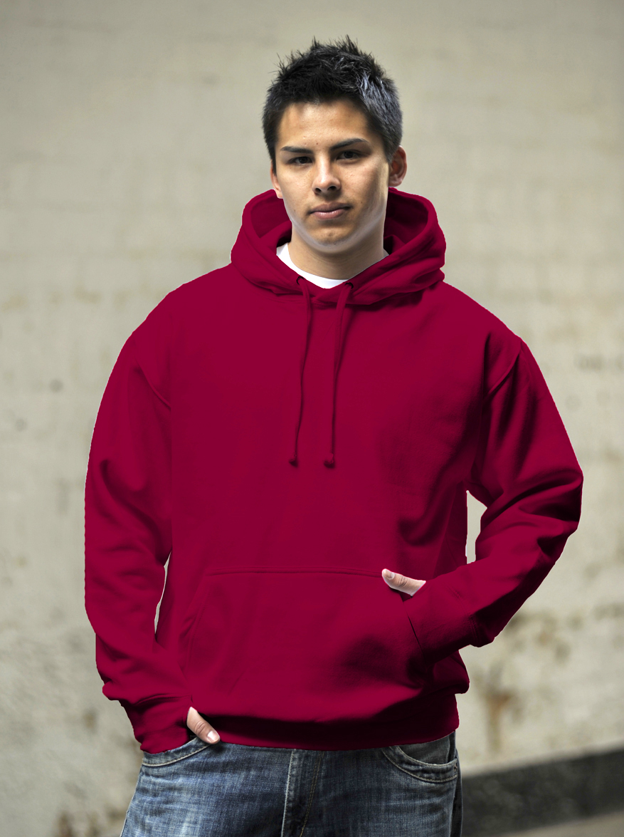 AWDis Street Hoodie Red Hot Chilli