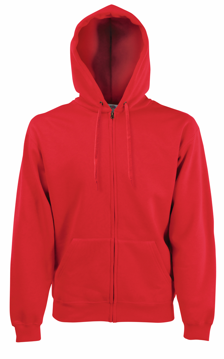 Fruit of the Loom Hooded Jacket 620620 Red