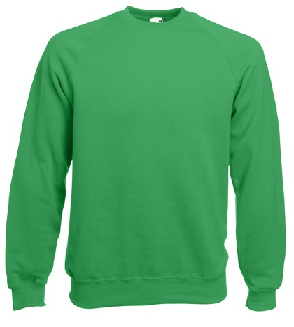 Fruit of the Loom Raglan Sweater SC4 Kelly Green