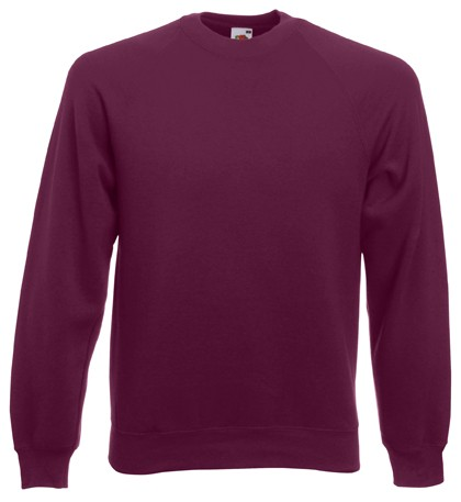 Fruit of the Loom Raglan Sweater SC4 Burgundy
